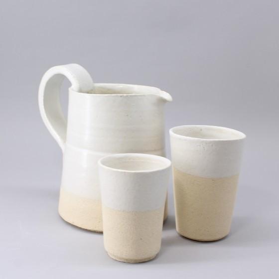 """Stoneware jug """" Authentic"""" (2)"""
