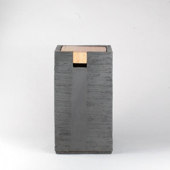 Chevet coffre grès noir