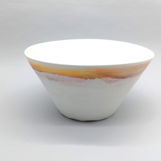 Porcelain salad bowl, conical