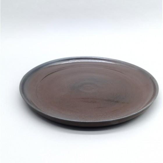 Flat plate black stoneware...