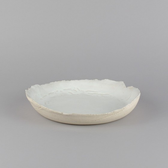 Assiette creuse grès blanc
