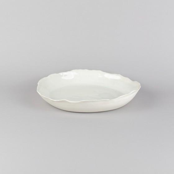 Porcelain shallow-bowl